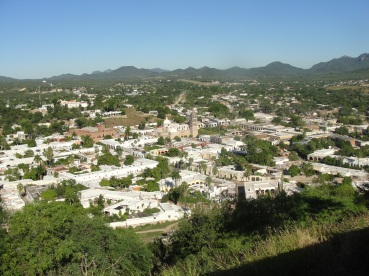 Aerial view of Alamos, Sonora, Mexico