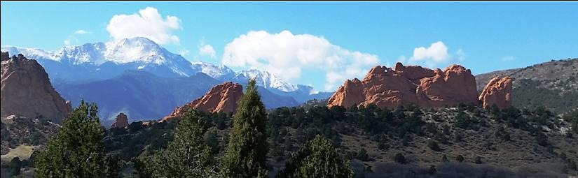 Pikes Peak-Garden of Gods, Colorado Springs Fall view